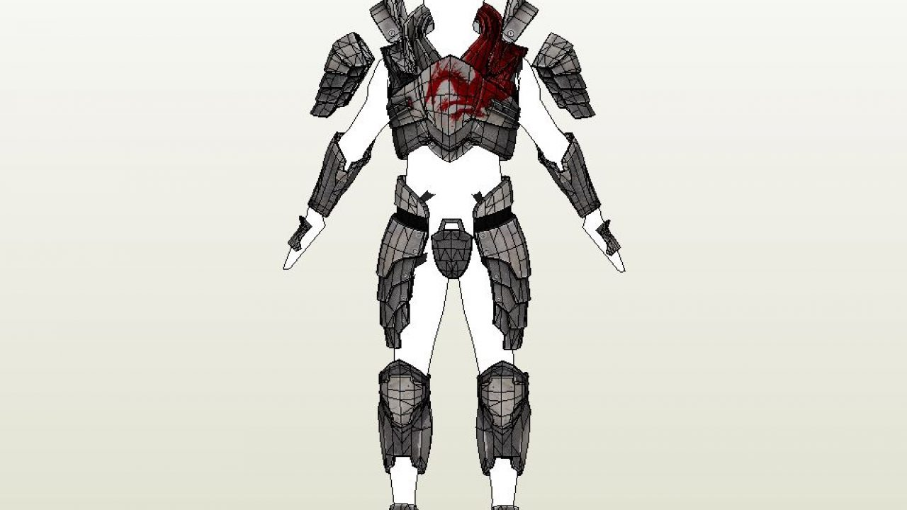 Papercraft Pdo File Template For Mass Effect Blood Dragon Armor Add several armor sets and a dragon to the game. mass effect blood dragon armor
