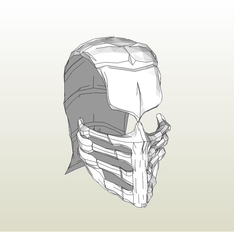 Papercraft Pdo File Template For Mortal Kombat Full Mask Old