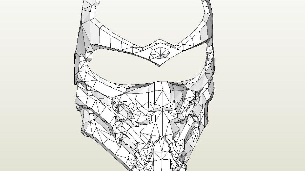 Papercraft Pdo File Template For Mortal Kombat Scorpion Full Mask