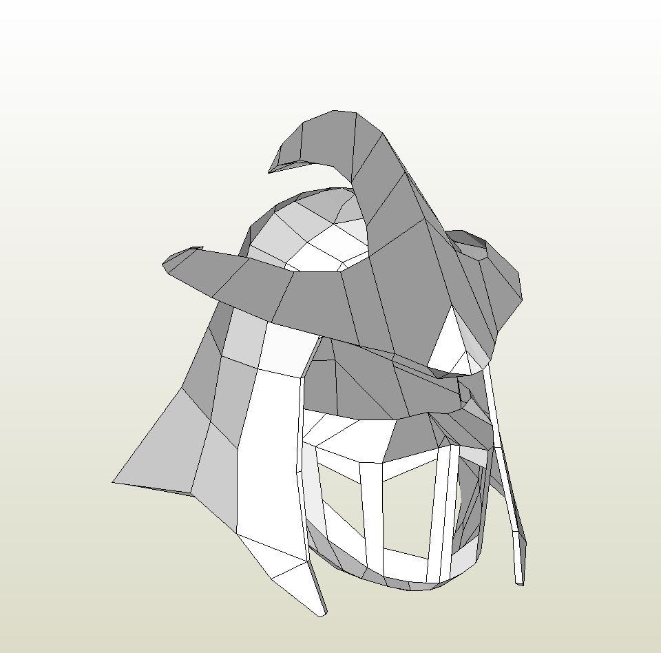Papercraft Pdo File Template For Tmnt Shredder Helmet