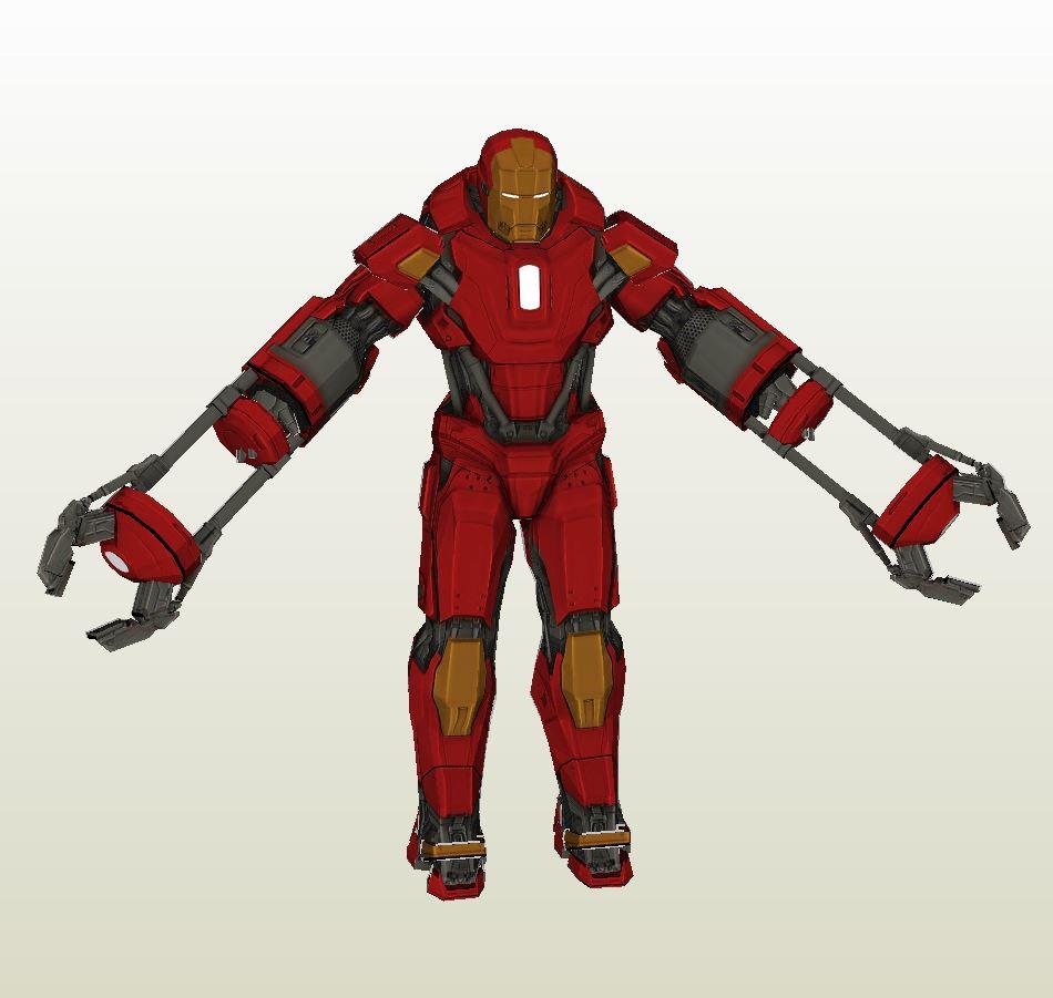 Iron Man Mark 35 Red Snapper Figure Pepakura Eu